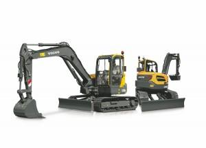볼보건설기계코리아가 2019년 업그레이드 형 신제품 9.2톤 소선회 굴착기 ECR88D PRO를 출시했다