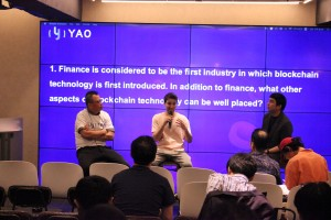 왼쪽부터 YAO Network Asia CEO Victor Lee와 VIDY CEO Patrick Colangelo, 인큐블록 정근용 본부장