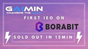 Gaimin, 한국 거래소Borait에서 첫IEO 진행15분 만에 매진
