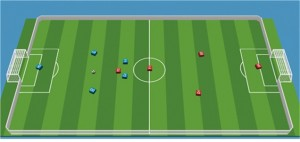 AI 축구 경기 장면