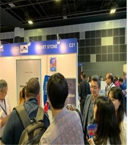 에듀테크 아시아 2019(EduTECH Asia 2019)에서 EpicLive를 설명하고 있는 살린 김재현 대표