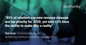 던험비: 식품소매업 매출 증가 달성에 대한 포레스터 위탁 연구 통계자료