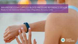 맥심이 커프 없는 혈압 측정 솔루션을 출시했다