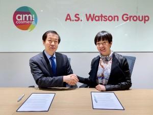 아미코스메틱이 세계적인 H&B 유통사 A.S 왓슨 그룹과 전략 파트너십 MOU를 체결했다