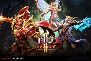 웹젠이 원클릭 PC웹게임 뮤 이그니션2의 차별화된 육성 멀티 캐릭터 시스템을 소개했다