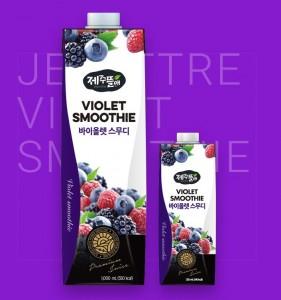 Jinsan Beverage Jejuttre Violet Smoothie made with superfood berries.