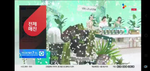 CJ오쇼핑에서 방송된 김정문알로에 '슬라이스 젤리 마스크팩' 론칭 방송이 전체 매진을 기록했다