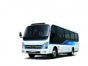 현대자동차가 중형 전기 버스 카운티 일렉트릭을 출시했다