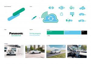오토모티브 브랜드 콘테스트 2020에서 디자인 최고상을 받은 파나소닉 오토모티브 브랜드 디자인