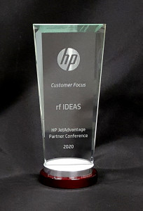 rf IDEAS가 HP 제트어드밴티지 2020 파트너 어워드 고객 집중 부문을 수상했다