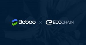 이벤트 주최 측 보부 거래소와 참가 측 에코체인 프로젝트 로고