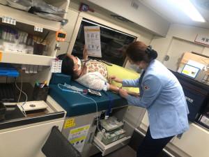누림센터와 입주기관 임직원들이 헌혈에 동참했다