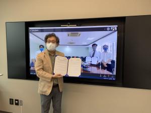 베트남 열대생물연구소(ITB)와 온라인 업무협약식을 체결한 국립해양생물자원관 황선도 관장