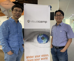 왼쪽부터 비주얼캠프 박재승 공동 창업자와 석윤찬 대표