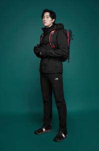 에코 실드 재킷과 어드벤처 발키리 보아 고어텍스를 착용한 노스페이스 홍보대사 소지섭