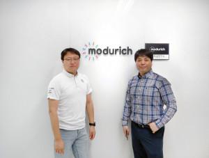 왼쪽부터 김병곤, 이승백 모두리치 공동 대표이사