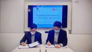 한국컴플라이언스아카데미 장대현 대표와 뷰로반다익 김영갑 지사장은 상호업무협약에 서명했다