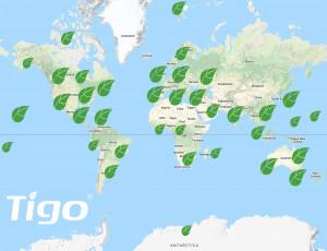 타이고의 모니터링 된 PV 시스템은 7개 대륙에 걸쳐 있으며 하루에 1기가 와트시 이상의 에너지를 생성한다