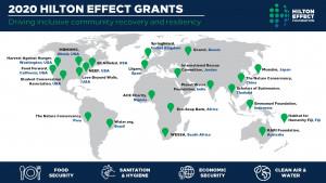 힐튼 이펙트 재단이 2020년 지원금 수령 단체를 공개하고 코로나19 대응 누적 지원금이 100만달러를 돌파했다고 발표했다