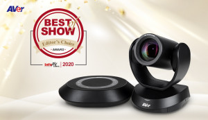 AVer Information의 화상 회의 카메라 'VC520 Pro'가 베이징 InfoComm China에서 최고 제품상(Best of Show Award)을 수상했다