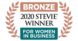 캑터스 커뮤니케이션즈가 2020 여성 기업인 스티비 대상 동상을 수상했다