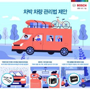 보쉬 자동차부품 애프터마켓 사업부 차박 차량 관리법 제안