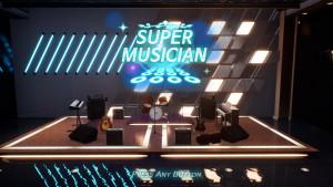 실감형 리듬 액션 게임 '슈퍼뮤지션' 화면