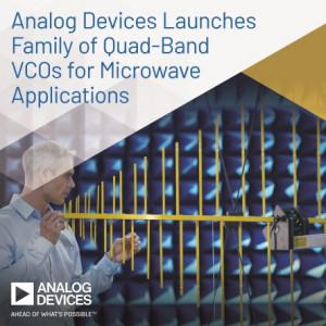 ADI가 마이크로파 애플리케이션을 위한 쿼드밴드 VCO를 선보인다