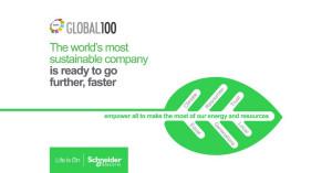 슈나이더 일렉트릭이 글로벌 지속가능경영 100대 기업 1위에 올랐다