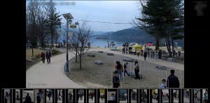 다인스의 얼굴인식 기반 중복 카운트 방지 무인계수 시스템 분석 화면