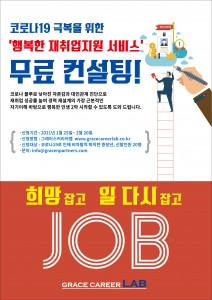 그레이스앤파트너스의 '행복한 재취업지원 서비스' 무료 컨설팅 포스터