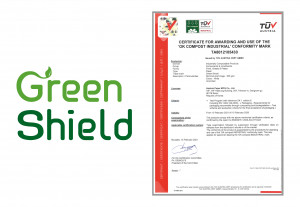 한국제지 Green Shield가 취득한 'OK Compost Industrial' 인증서