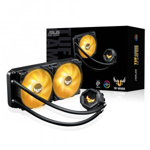 2개의 120mm RGB 라디에이터 팬으로 구성된 TUF Gaming LC 240 RGB