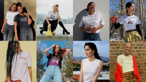 네타포르테의 #PowerToChange 캠페인에 참여한 인크레더블 우먼 8인. 맨 왼쪽부터 시계 방향으로 재이 트윈스, 티에리 초우, 나오미 시마다, 아테나 칼데론, 살렘 미첼, 코코 로샤, 테디 퀸리반, 리브 리틀