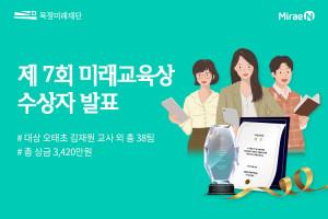 현직 교사 대상 수업 공모전인 제7회 미래교육상 최종 심사결과를 발표한 목정미래재단