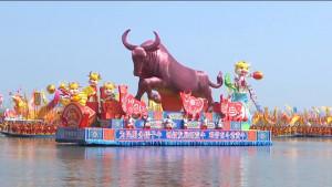제15회 중국 습지 생태 관광 축제 및 2021 중국 타이저우 장옌 친통 보트축제 현장