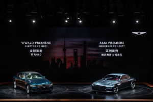 제네시스가 2021 상하이 국제 모터쇼에서 G80 전동화 모델을 최초로 공개했다