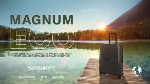 쌤소나이트가 친환경 캐리어 매그넘 에코(Magnum Eco) 캐리어 컬렉션을 공개한다