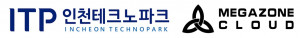 인천테크노파크와 메가존클라우드 로고