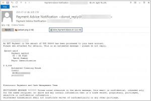 안랩이 공개한 악성코드 유포에 사용된 메일 본문