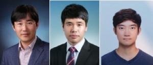 왼쪽부터 고승환 서울대학교 공과대학 기계공학부 교수, 하인호 박사과정생, 김민우 박사과정생