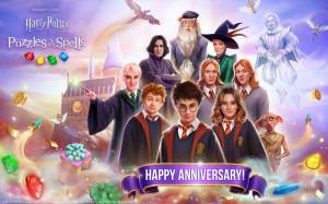 """징가, """"마법의 매치3 모바일 게임 '해리포터: 퍼즐과 마법' 1주년 맞아"""""""