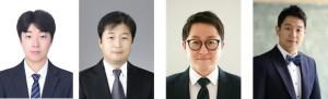 왼쪽부터 서울대학교 정병찬 박사 과정, 임영섭 교수, 한국과학기술연구원 오형석 박사, 이웅 박사