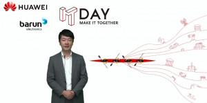 한국화웨이 엔터프라이즈 사업 부문 황디(Huang Di) 부사장이 환영사를 하고 있다