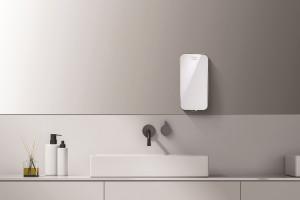공용 화장실 비누는 여러 사람이 사용해도 교차 오염이 없도록 비접촉식 자동 디스펜서 기기가 좋다. 사진은 세스코 손 세정기 '핸드제닉'
