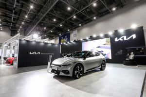 대구 국제 미래자동차 엑스포 기아관에 전시된 EV6