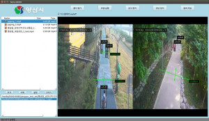 CCTV의 영상에서 사람을 분류하고 있는 화면