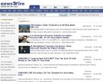뉴스와이어가 11일 오픈한 영문 보도자료 서비스 페이지