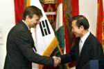Gabor Demszky Mayor of Budapest and Lee, Myung Bak Mayor of Seoul