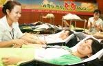 SK주식회사 자원봉사단 'SK천사단'이 14일 全사업장에서 헌혈행사를 실시했다.